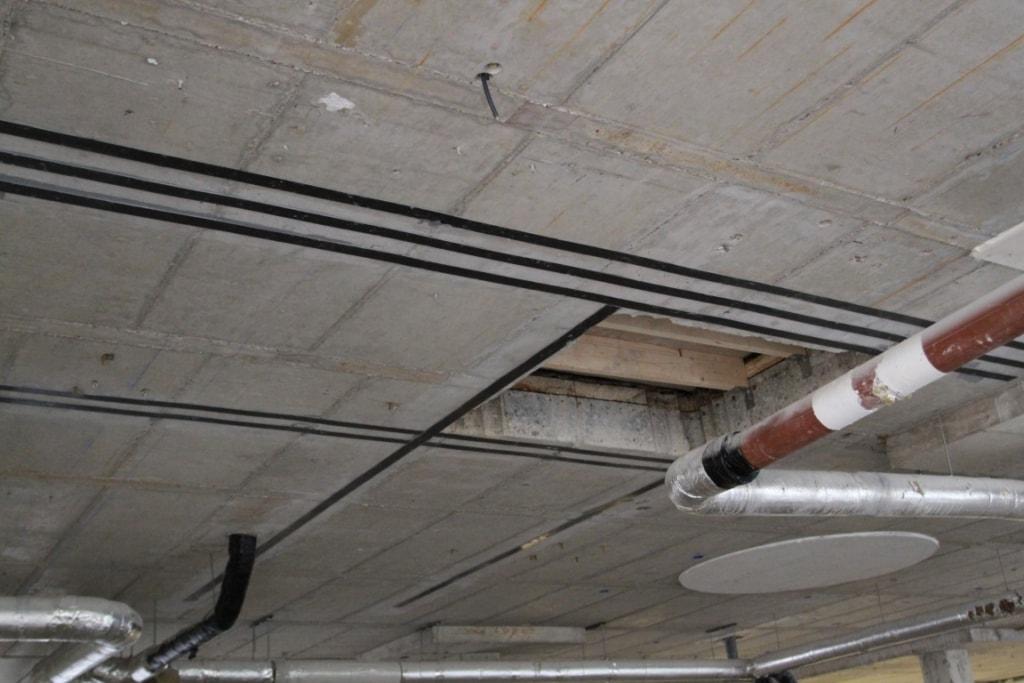 versterken betoncontructie met koolstoflamellen - koolstoflijmwapening