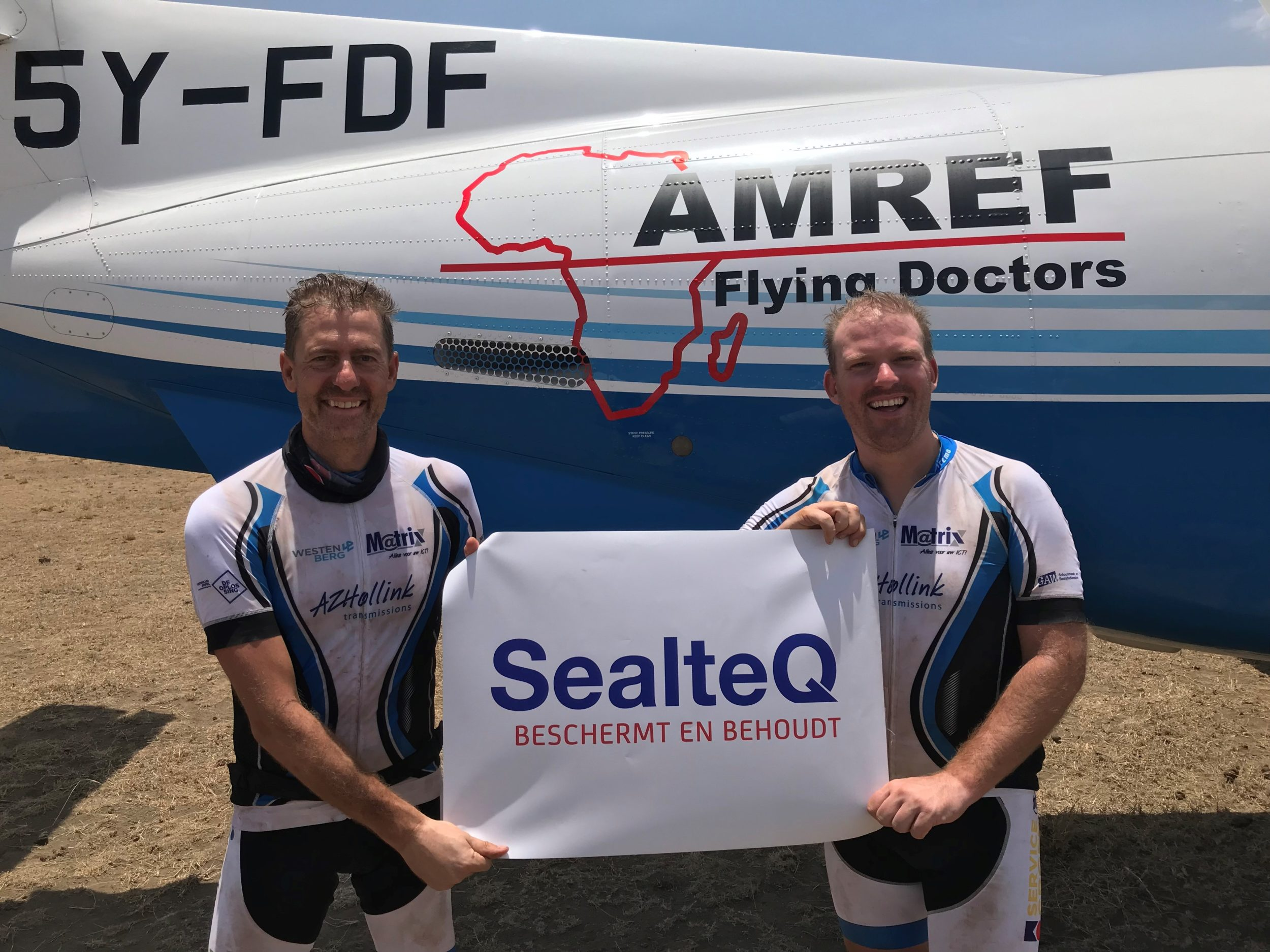 SealteQ sponsort 'iASSET for AMREF Flying Doctors' team