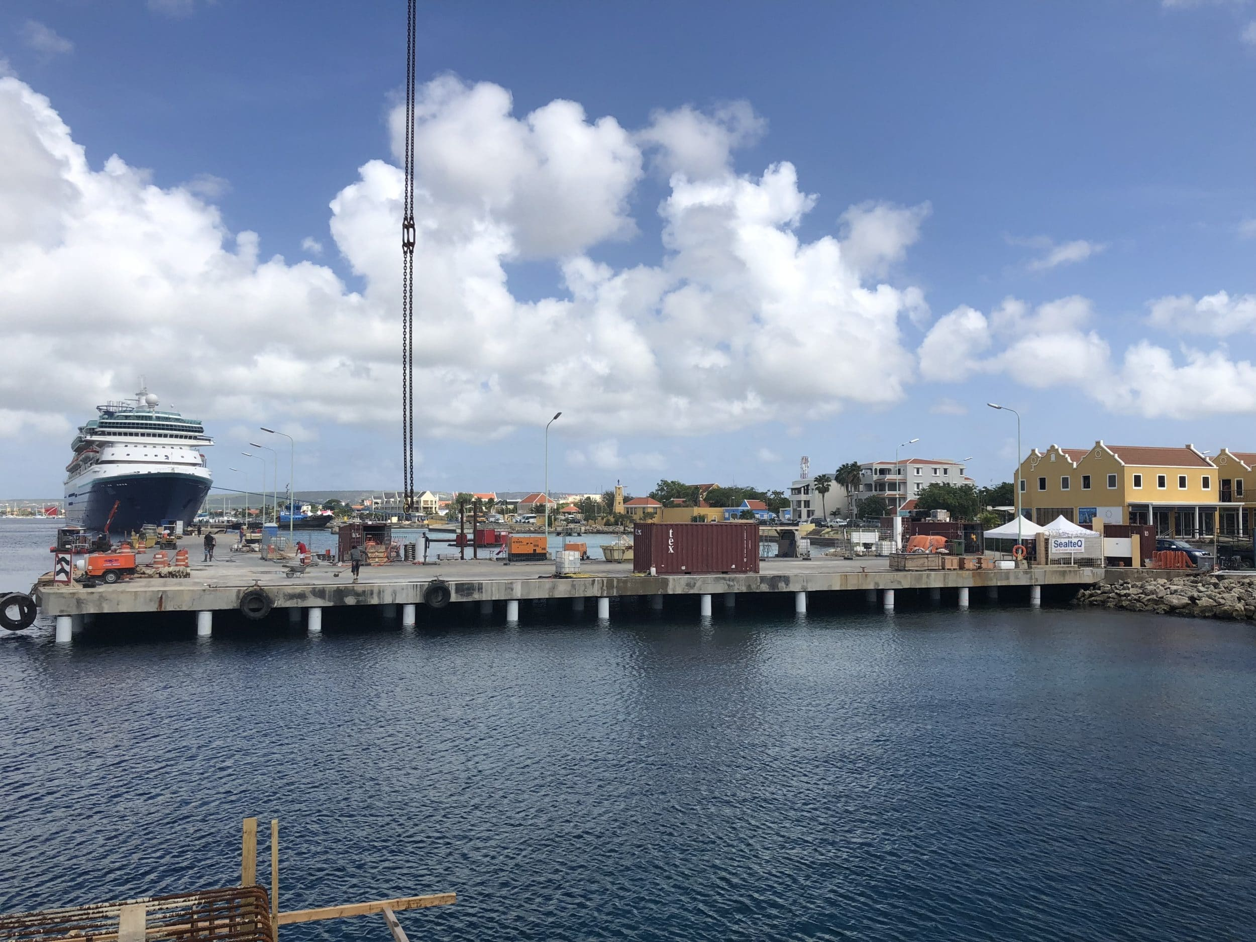 The end result of the renovated pier in Bonaire