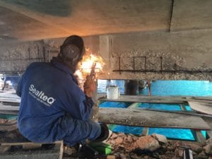 Verduurzaming pier Kralendijk door koolstofwapening