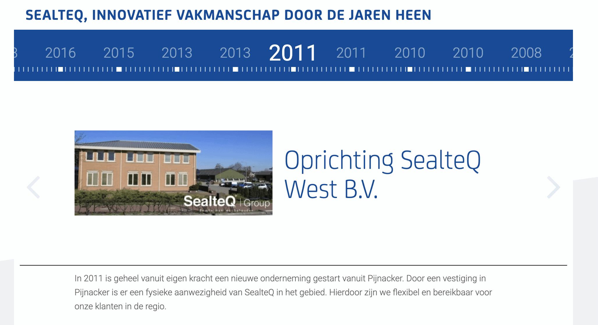 Een jubileum: SealteQ West bestaat tien jaar